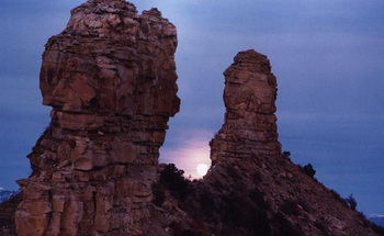 National monument protections for places such as Colorado's Chimney Rock could be removed if the U.S. Department of the Interior disagrees with their designations. (USDA)