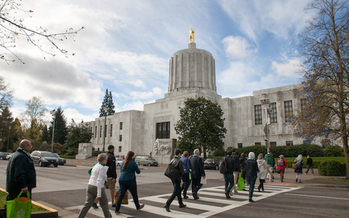 Oregon's big budget shortfall could hinder efforts to fund homelessness service programs. (Oregon Food Bank)