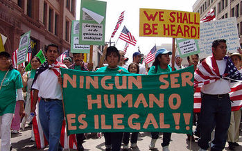 Advocates says May Day in Maine will focus on immigrants rights both in Portland and on college campuses. (iJonathan McIntosh/wikimedia)