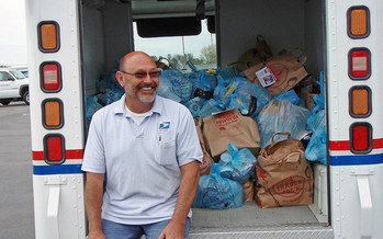 Letter carriers are collecting nonperishable food items on Saturday in partnership with local food banks. (RDPixelShop)