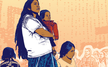 This year, artists who helped create Mamas Day cards are featuring mothers from immigrant and Muslim families. (Melanie Cervantes/Forward Together)