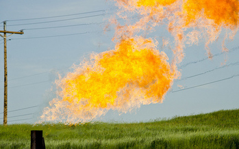North Dakota's two U.S. senators disagreed on the fate of a BLM rule that prevents methane-gas venting and flaring at oil developments on public and tribal land. (Tim Evanson/Flickr)