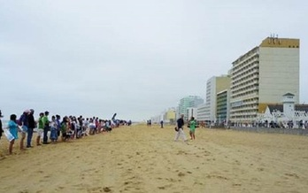 Organizers say a Virginia Beach protest against offshore drilling represents the will of the people and businesses of that community. (Chris Bergand/Andrew Tuchman/Oceana)