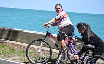 Bicycling is considered one of the best ways to stay in shape. (Virginia Carter)