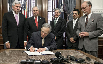 Texas Gov. Greg Abbott signs one of dozens of bills passed by the Texas Legislature this session. Opponents already have begun filing legal challenges to many of them. (TexasGovermentOnline)