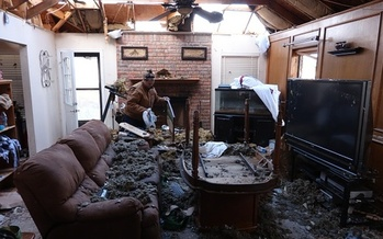 Wisconsin consumer protection experts advise homeowners with storm damage to contact only local, reputable contractors for repairs. (AnadoluAgency/Getty Images)