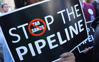Opponents contend the Keystone XL Pipeline will never be in the public interest. (Elvert Barnes/Flickr)