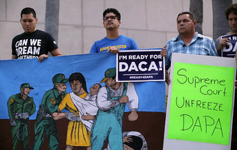 Immigrants have protested to keep DAPA in place, but Homeland Security officials rescinded the program last week. (Raedle/GettyImages)