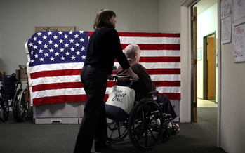 A new report ranks Oregon fourth overall among states for its long-term care system. (Justin Sullivan/Getty Images)