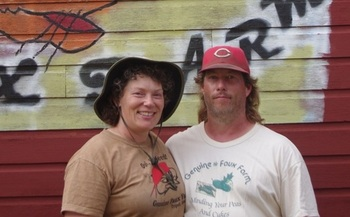 Rob and Tammy Faux of Genuine Faux Farm have been victims of pesticide drift. (PFI)
