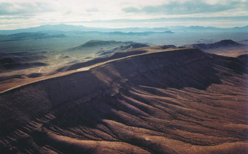 Yucca Mountain is in a seismically unstable and potentially volcanically active area. (Public Domain)