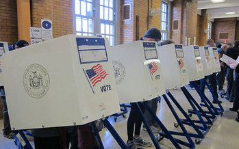 A trial began Wednesday in a case that challenges the state's requirement that voter registration be cut off 20 days prior to an election. (J. Slobotnik/Flckr)