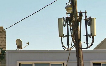 Senate Bill 649 would eliminate local permits for cellular equipment such as this across the state. (Kevin Mottus/California Brain Tumor Association)