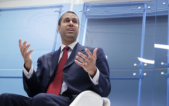 FCC Chairman Ajit Pai says Obama-era regulations on internet service providers hamper innovation and investment. (Chip Somodevilla/Getty Images)