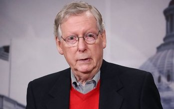 All eyes are on U.S. Senate Majority Leader Mitch McConnell, who reveals the latest version of a Senate health-care plan today. (BreakingNews/Wiki)