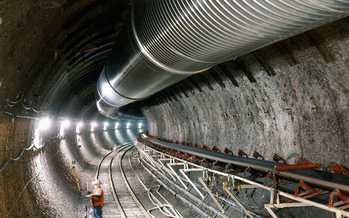 The Department of Energy built an underground facility in Yucca Mountain to determine whether the area was suitable for nuclear waste. (Department of Energy/Flickr)
