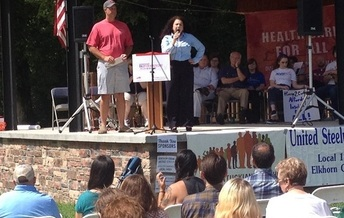 Speakers at a weekend rally in Pikeville had a message for Congress: Everybody deserves health care. (Jerry Hardt)