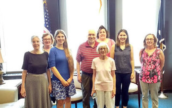 Local members of the Indivisible Movement have been making the rounds with lawmakers, expressing their opposition to the Senate GOP health care plan. (MinuteMan Indivisible)