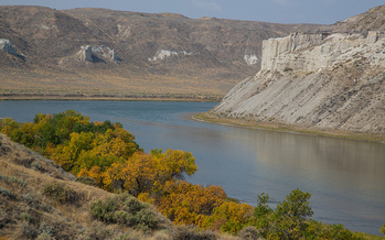 The river walkers are traveling from the Missouri River's headwaters in Montana to its confluence with the Mississippi in Missouri. (Bob Wick/Bureau of Land Management)