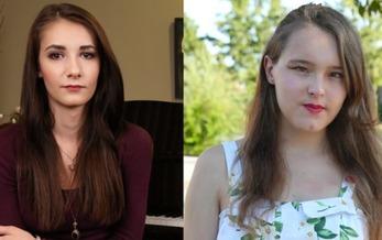 Juliet Evancho and Elissa Ridenour, two of the plaintiffs in the Pennsylvania lawsuit. (Lambda Legal)