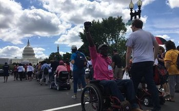 Bay Staters with disabilities are on the front lines this week in battles to preserve critical health coverage both in Massachusetts and Congress. (Boston Center for Independent Living)