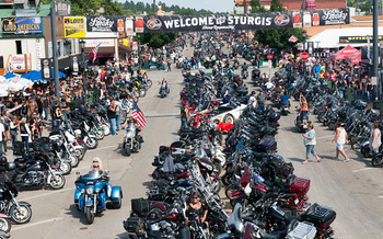 More than 700,000 people attended the Sturgis Motorcycle Rally in 2015 for the 75th anniversary. (Andrew Cullen/Getty Images)