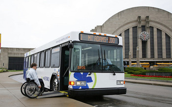 Some Ohioans with disabilities say public transportation can be hard to access and doesn't always run on time. (Metro Bus/Flickr)