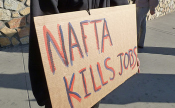 NAFTA resulted in the loss of an estimated 680,000 manufacturing jobs in the United States. <br />(Billie Greenwood/Flickr)