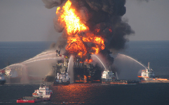The 2010 Deepwater Horizon spill in the Gulf of Mexico caused billions in damage, and a similar accident is what opponents to oil and gas exploration fear. (Florida Sea Grant/flickr)