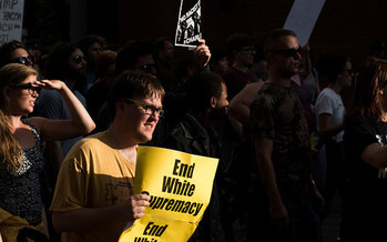 Events like the white supremacist rally in Charlottesville, Va., often also prompt more people to speak out against racism. (Stephen Maturen/Getty Images)