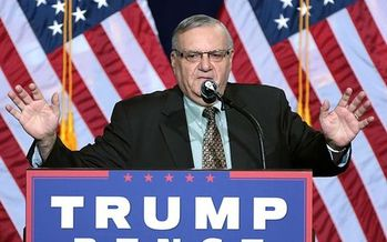 Former Sheriff Joe Arpaio stumped for Donald Trump in Phoenix during the 2016 presidential campaign. (Gage Skidmore/Wikimedia Commons)