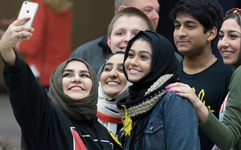 More than 60 percent of Muslim students said they've felt unsafe in public since the 2016 election campaign, according to a recent survey. (J Pat Carter/Getty Images)