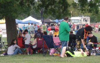 Cosmopolitan Park in Columbia was the location of choice for 10,000 people viewing Monday's solar eclipse. (Columbia Convention and Visitors Bureau)