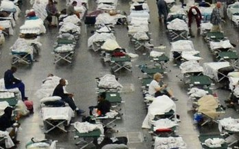 For thousands of Texas residents, an emergency shelter will be their home for weeks. (Red Cross)