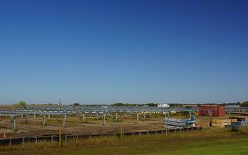 A solar farm near Paynesville is one of the state's largest. (Greg Gjerdingen/Flickr)