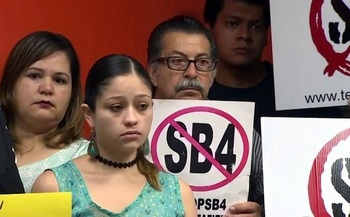 Hundreds protested the passage of Senate Bill 4, the so-called