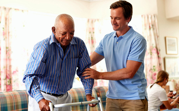 Many families find that private nursing-home care for loved ones can be prohibitively expensive, and home-based care costs less. (Morsa/GettyImages)
