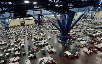More than 30,000 Texans have sought refuge in shelters like this one. (Red Cross)