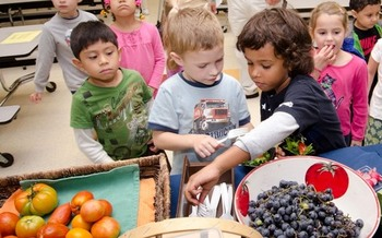 More than 450 Nebraska schools source fresh food from local growers and producers through Farm to School programs. (Lance Cheung/USDA)