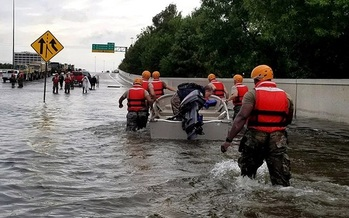 The massive damage Hurricane Harvey has caused in Texas can't help but prompt concern along the Virginia coast. (U.S. Army/Wikipedia)