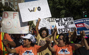 Ten states threatened legal action against the Trump administration if the president did not repeal DACA by Tuesday. (Zach Gibson/Getty Images)
