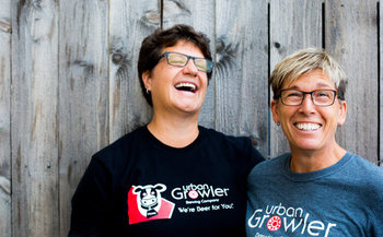 Jill Pavlak (right) worked in liquor stores and restaurants to learn how to run her own brewery with her wife, Deb Loch.
