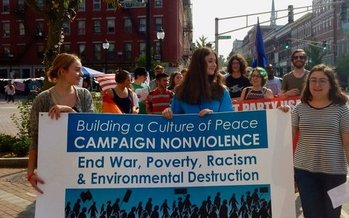 Mainers who took part in this week's International Day of Peace say violence is the go-to solution for too many issues both at home and across the globe. (Christina Diebold)