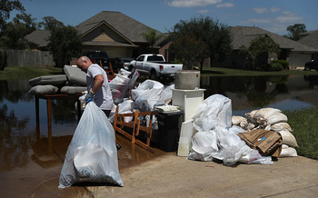 Scientists warn that extreme weather events, such as Hurricane Harvey, are likely to become more frequent and powerful as the planet warms. (Getty Images)