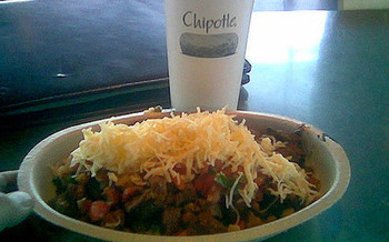 Chipotle rejects routine antibiotic use through its entire supply chain. (Paul Swansen/Flickr)
