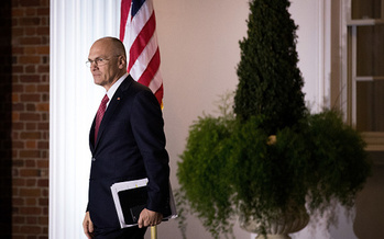 Andy Puzder withdrew from his nomination as labor secretary after his ex-wife made allegations of domestic violence public. (Drew Angerer/Getty Images)
