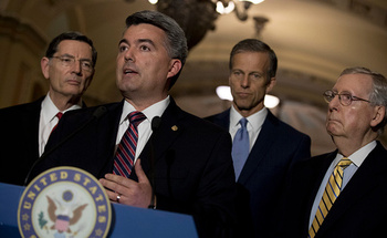 Colorado Sen. Cory Gardner has co-sponsored legislation that would restore funding for the Children's Health Insurance Program, which expired last Saturday. (Getty Images)