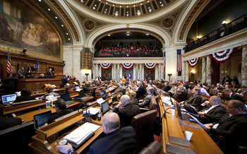 The Wisconsin Legislature is considering a bill that Democrats say would move the state's pioneering Family and Medical Leave Law from the 1950s into the 21st century. (Wisconsin State Legislature)