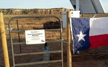 TexNet has set up 22 permanent seismic monitoring stations across the Lone Star State, including this one near Van Horn in West Texas. (Texas Bureau of Economic Geology)