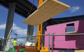 Cross-laminated timber, used in some buildings in place of steel, is seeing a growing market demand in the Northwest. (Denna Jones/Flickr)